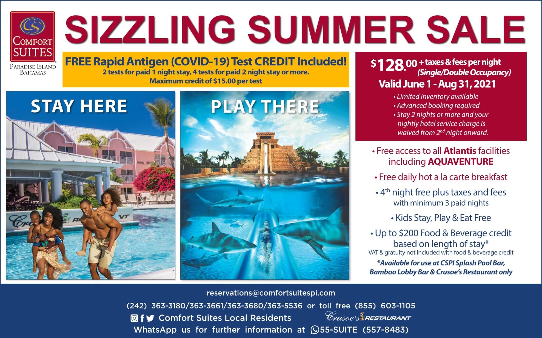Comfort Suites Sizzling Summer Sale