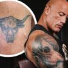 Dwayne Johnson gives update on his massive arm tattoo of a bull that he has been enhancing